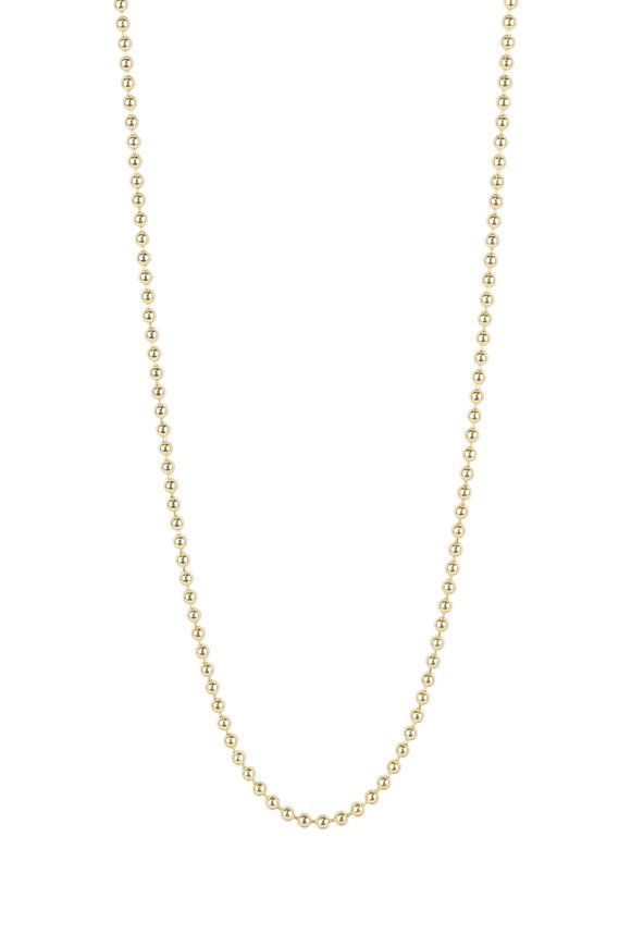 Julez Bryant 14K Yellow Gold Ball Chain Necklace, 2mm