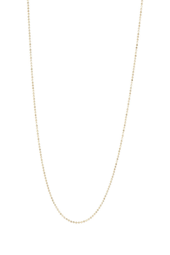 Julez Bryant 14K Yellow Gold Ball Chain Necklace, 1mm