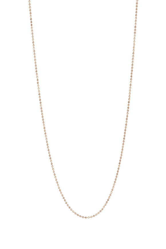Julez Bryant 18K Rose Gold Diamond Cut Ball Chain Necklace