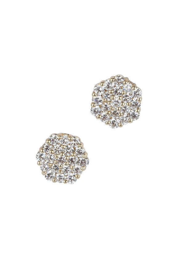 Julez Bryant 14K Yellow Gold Gail Diamond Post Earrings