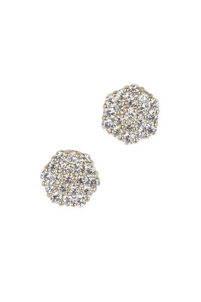 Julez Bryant - 14K Yellow Gold Gail Diamond Post Earrings