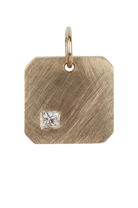 Julez Bryant 14K Yellow Gold Mora Single Diamond Pendant