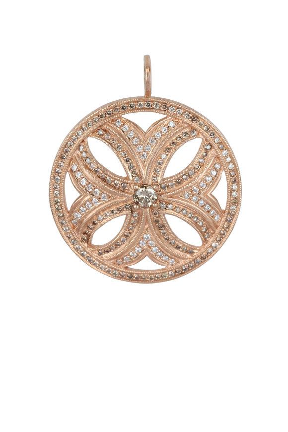 Julez Bryant 14K Rose Gold XL Myra Flower Pendant