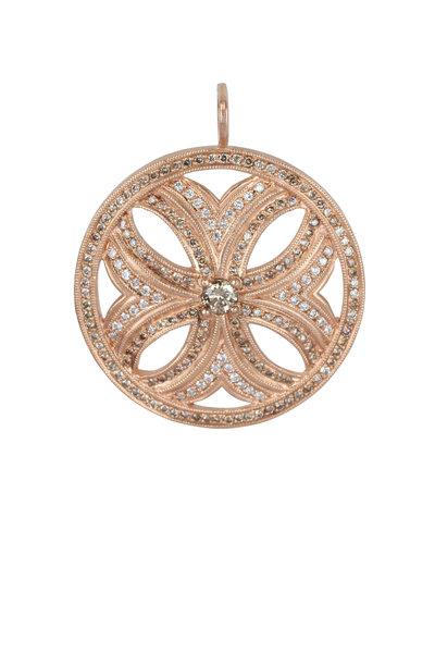 Julez Bryant - 14K Rose Gold XL Myra Flower Pendant