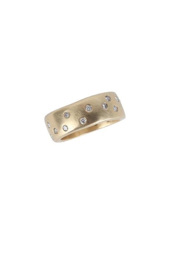 Julez Bryant 14K Yellow Gold Rend Scattered Diamond Ring