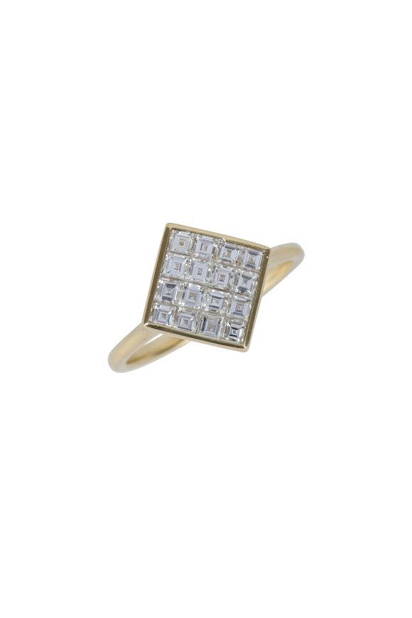 Julez Bryant 18K Yellow Gold Rett Square Diamond Ring