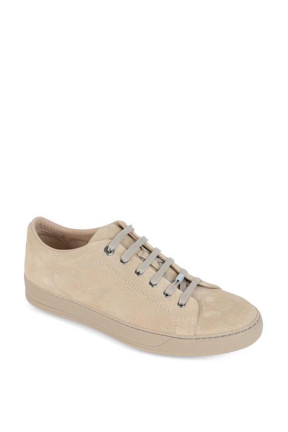 Lanvin Beige Suede Low Top Sneaker