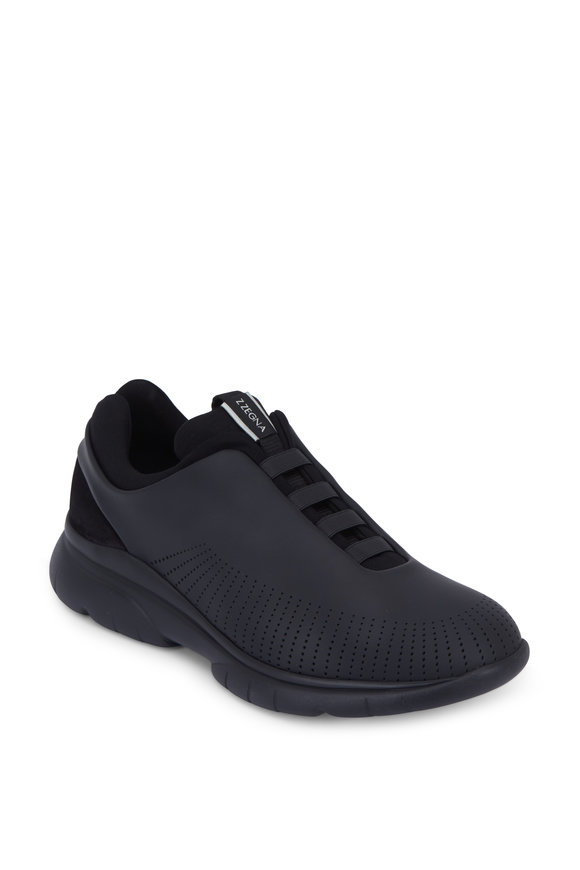 Ermenegildo Zegna Sprinter 2.0 Black Tech Leather Sneaker