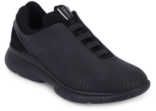 Ermenegildo Zegna Sprinter 2.0 Black Tech Leather Sneaker