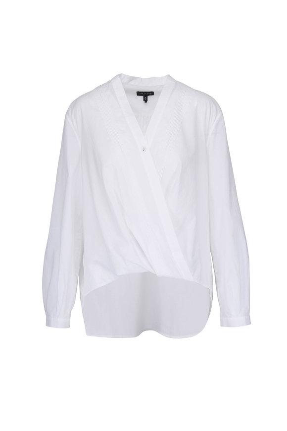 Rag & Bone Maranda White Criss-Cross Blouse