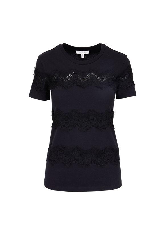 Dorothee Schumacher Sweet Rebellion Black Lace Top
