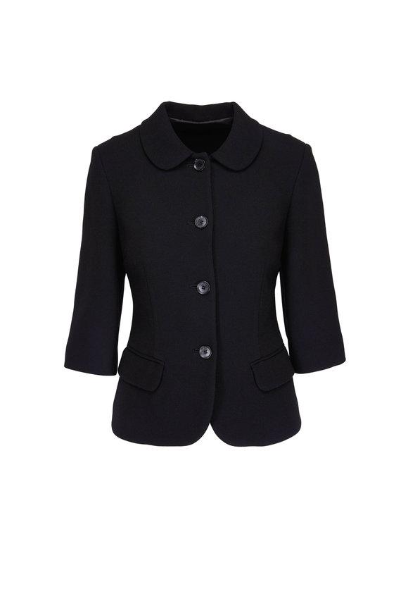 Kiton Black Short Four Button Jacket