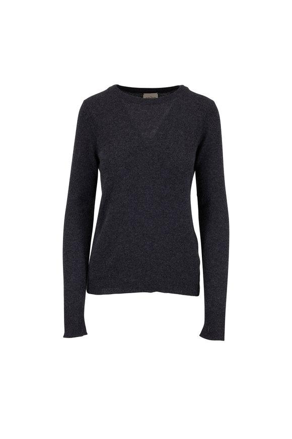 Le Kasha Oman Charcoal Gray Cashmere Basic Sweater