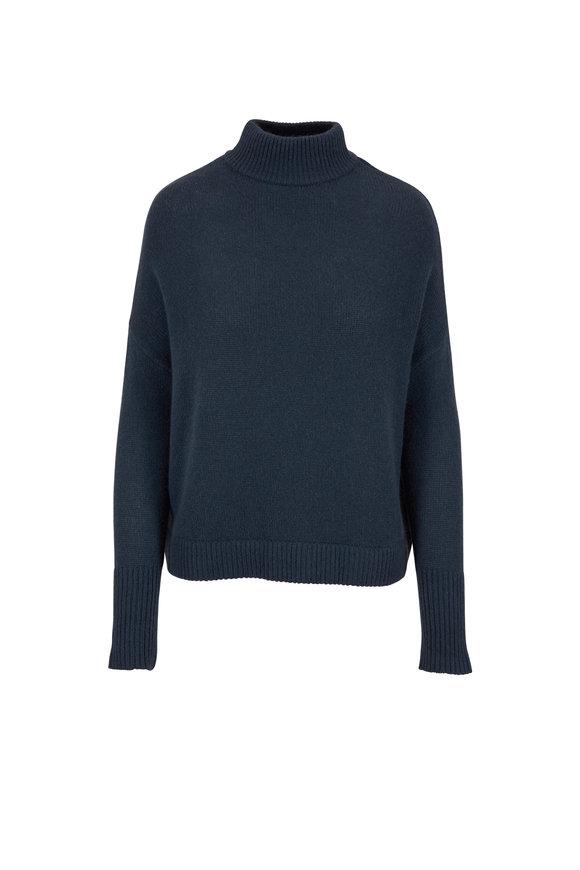 Le Kasha Island Vine Green Cashmere Turtleneck Sweater