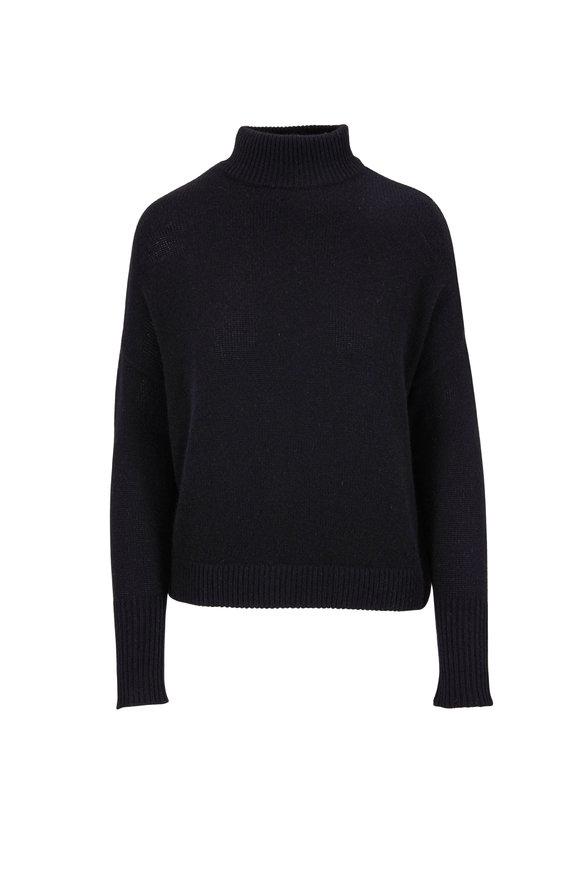 Le Kasha Island Black Cashmere Turtleneck Sweater