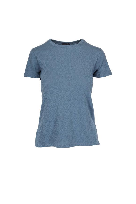 A T M Storm Blue Schoolboy Crewneck T-Shirt