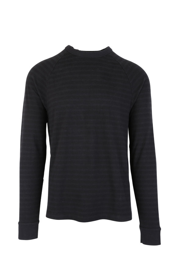 James Perse Carbon Tonal Striped Raglan T-Shirt