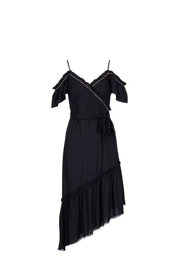 Paige Denim Aylin Black Ruffle Dress