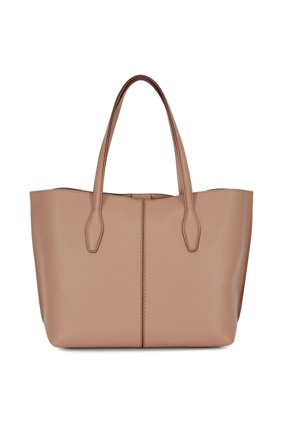Tod's Joy Tobacco Grained Leather Medium Tote
