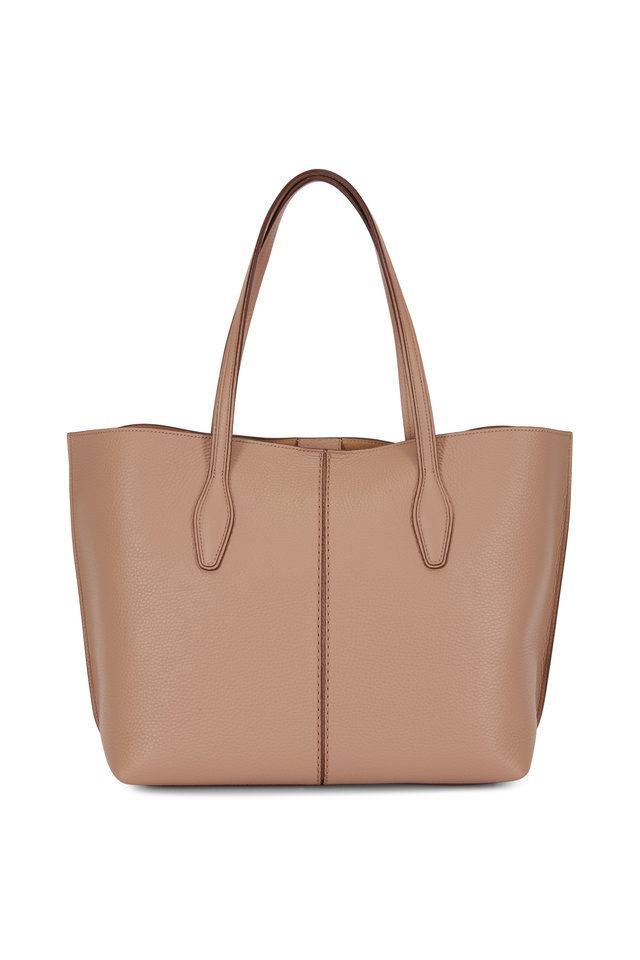 Joy Tobacco Grained Leather Medium Tote