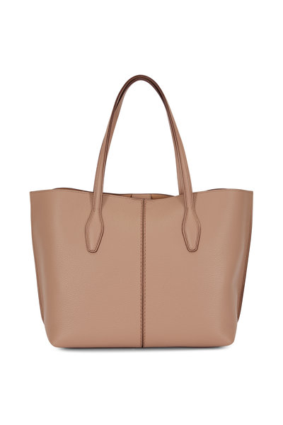 Tod's - Joy Tobacco Grained Leather Medium Tote