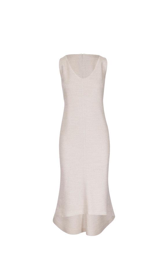 Akris Canvas Wool Stretch Scoop Neck Dress