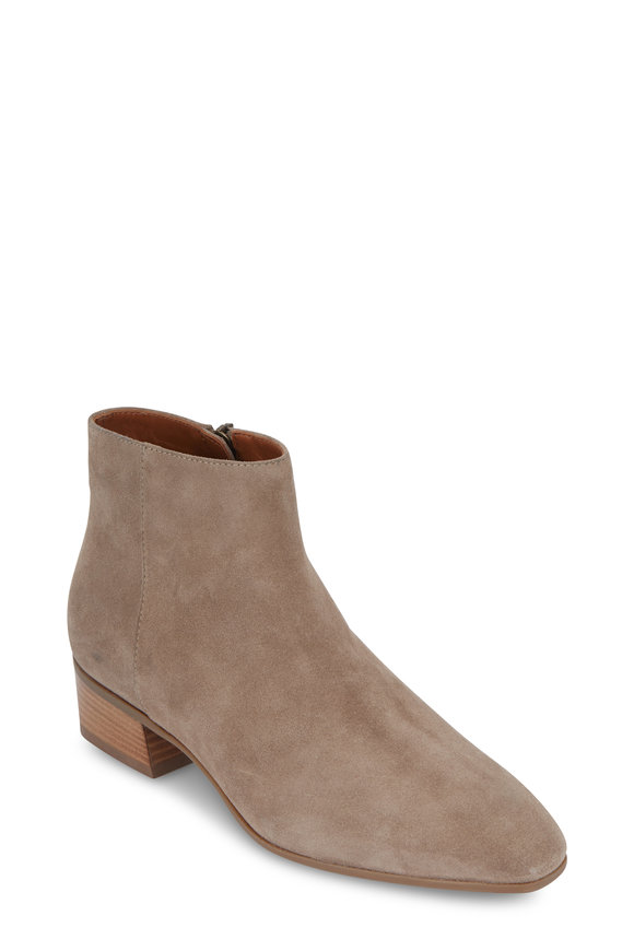 Aquatalia Fuoco Taupe Suede Ankle Boot, 40mm