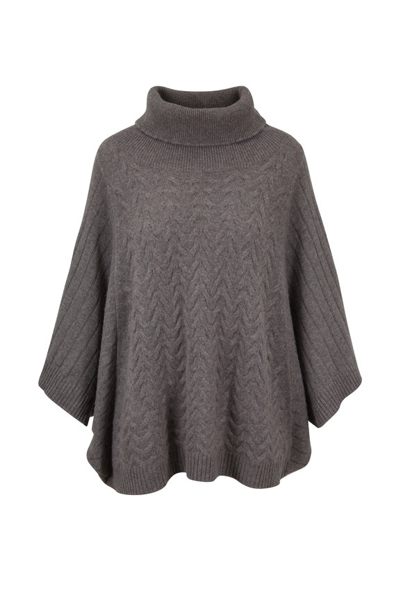 Raffi  Pepper Cashmere Mix Knit Turtleneck Popover