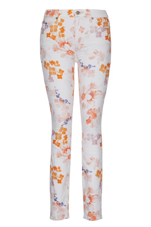 7 For All Mankind Floral Ankle Skinny Jean