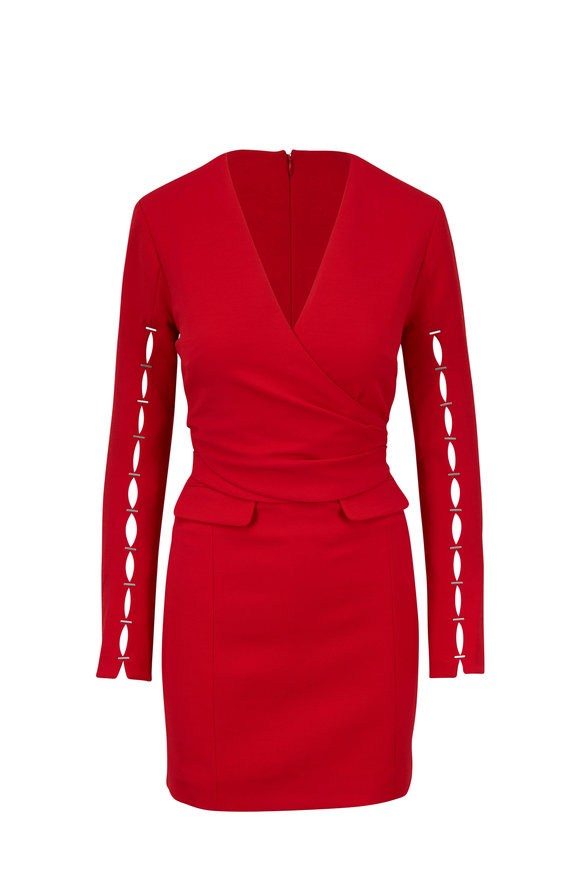 Jonathan Simkhai Red Deep V-Neck Dress