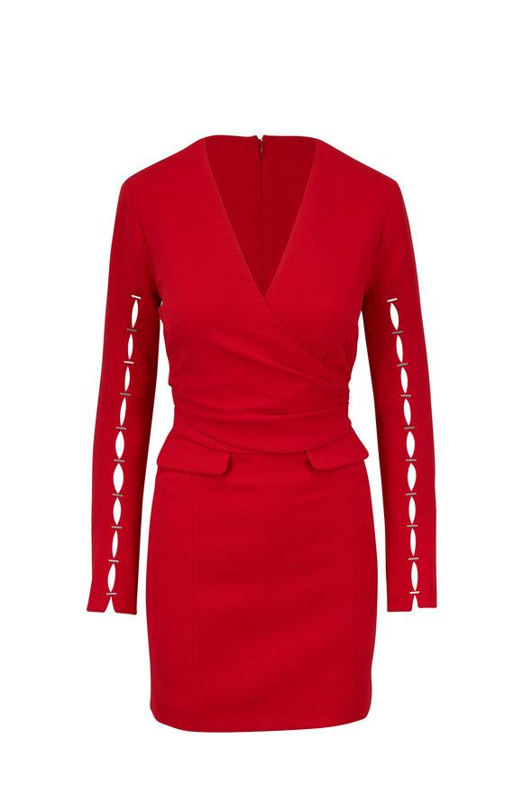 Jonathan Simkhai Red Deep V-Neck Dress