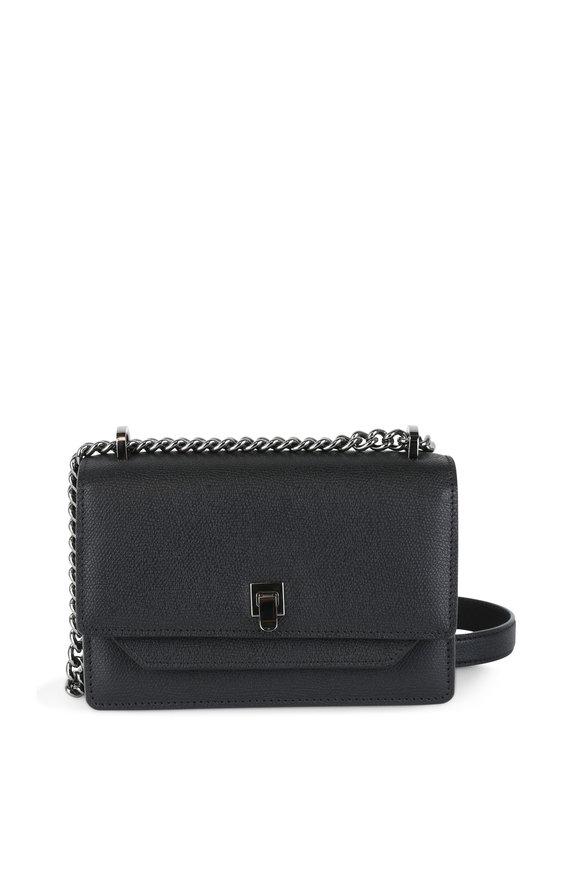 Valextra Black Leather Shoulder Bag