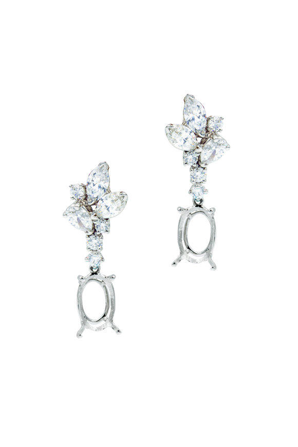 Oscar Heyman Platinum Diamond Drop Earrings