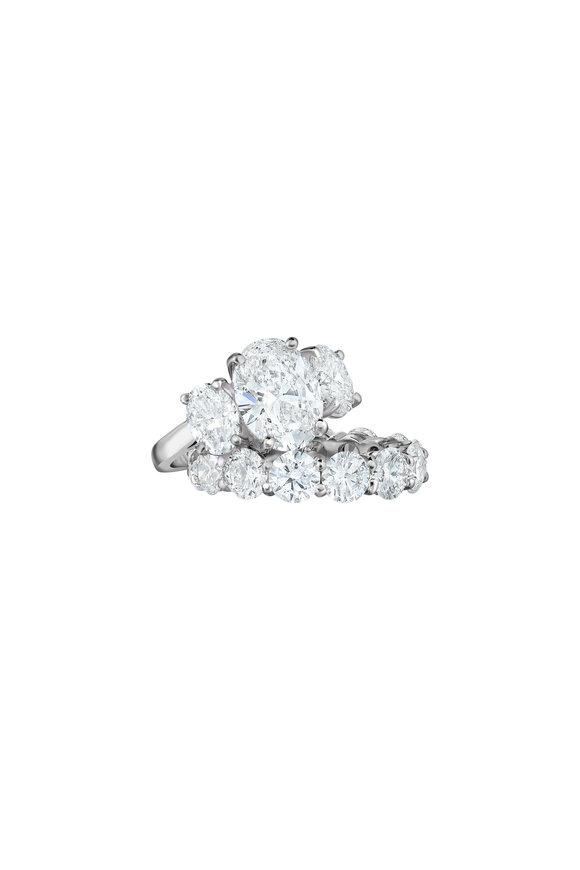 Oscar Heyman Platinum Diamond Oval Ring