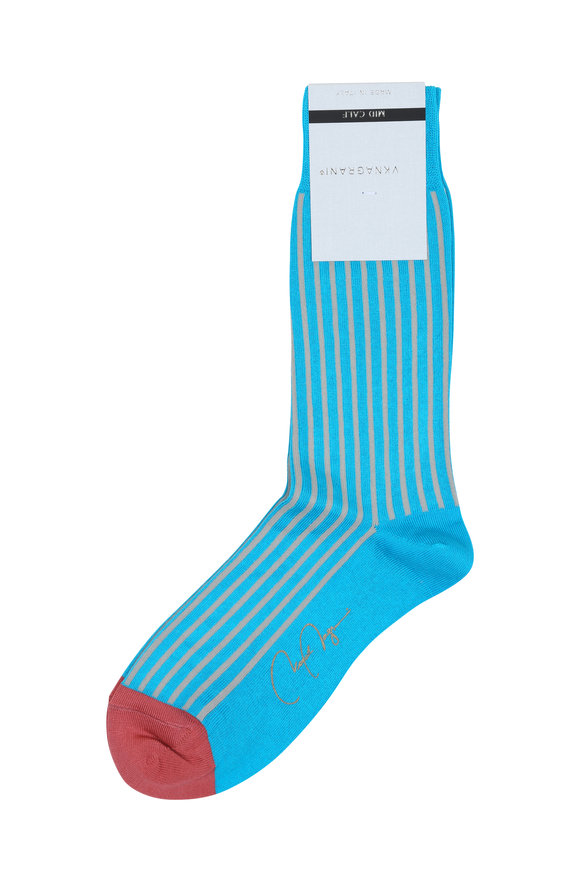 VKNagrani Turquoise Striped Socks