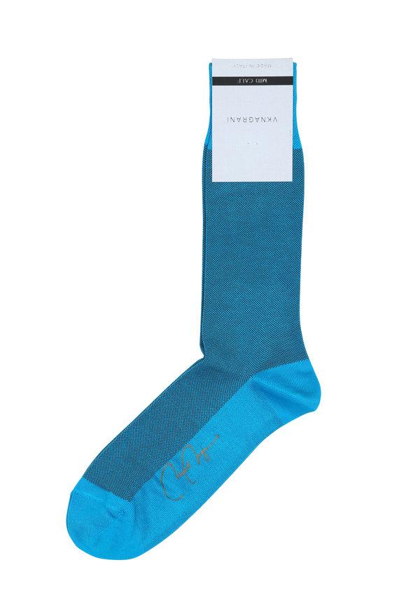 VKNagrani Turquoise Birdseye Socks
