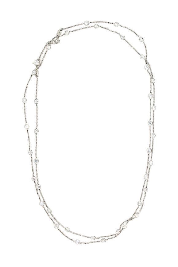 Oscar Heyman Platinum Diamond Layer Necklace