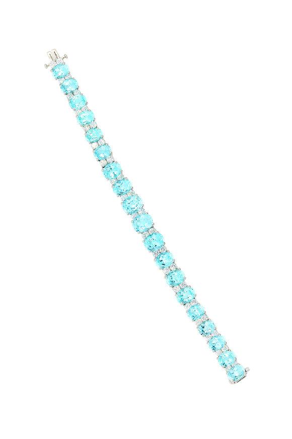 Oscar Heyman Platinum Tourmaline & Diamond Bracelet