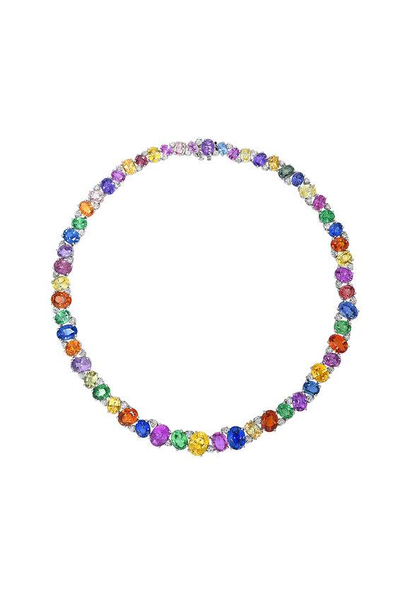 Oscar Heyman Platinum Semi Precious Mix Necklace