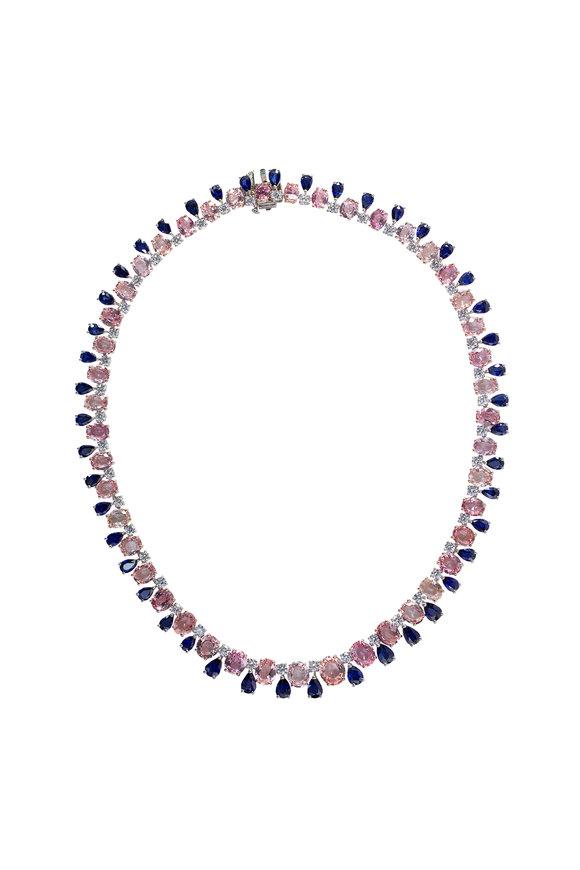 Oscar Heyman Platinum Sapphire & Diamond Necklace
