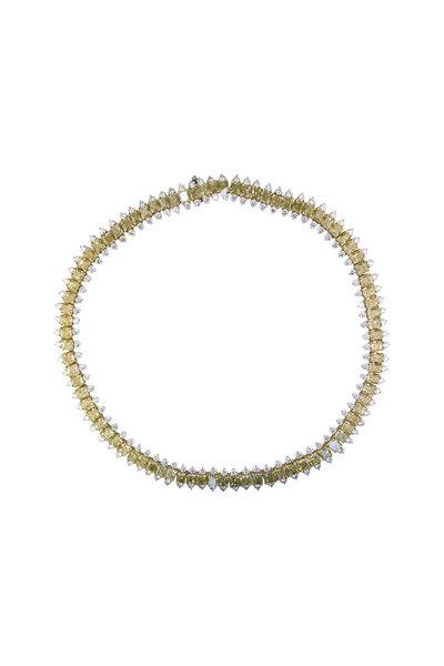 Oscar Heyman - Platinum Color Diamond Necklace