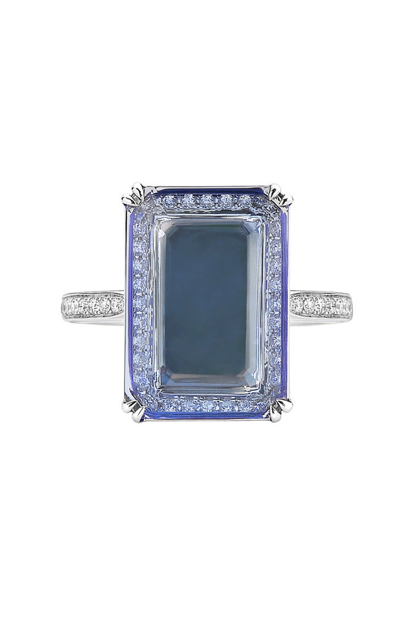 Paolo Costagli 14K White Gold Tanzanite Cocktail Ring