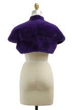 Oscar de la Renta Furs - Violet Mink Fur Bolero