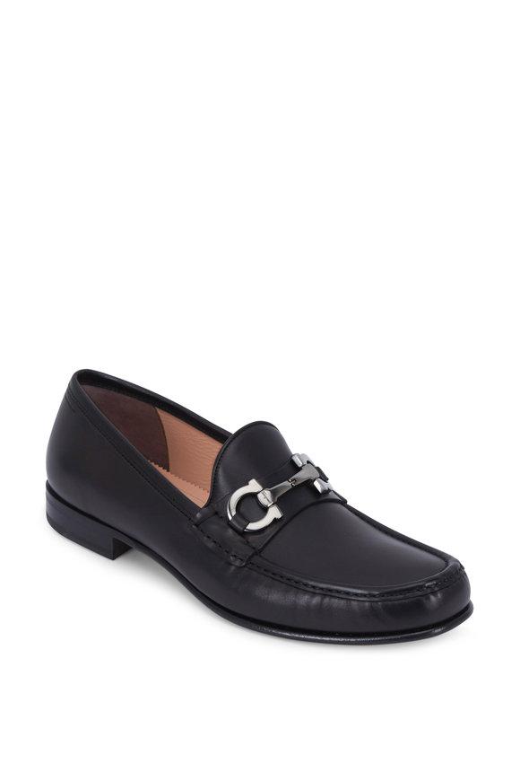 Salvatore Ferragamo Bond Black Leather Bit Loafer