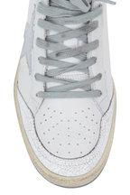Golden Goose - Ball Star White Leather Silver Star Sneaker