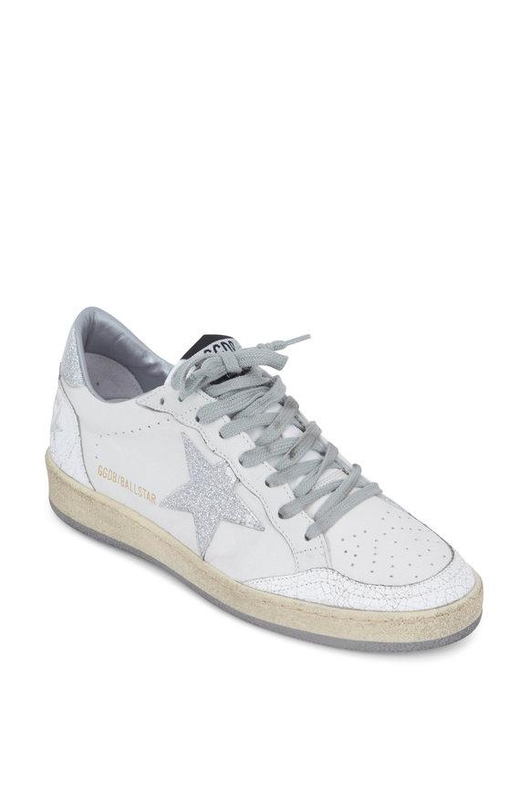 Golden Goose Ball Star White Leather Silver Star Sneaker