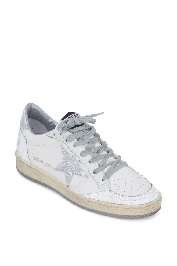 Golden Goose Ball Star White Leather Silver Star Sneaker