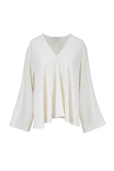 Elizabeth & James - Ellis Alabaster V-Neck Top