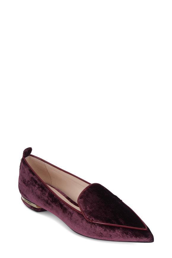 Nicholas Kirkwood Beya Burgundy Velvet Loafer