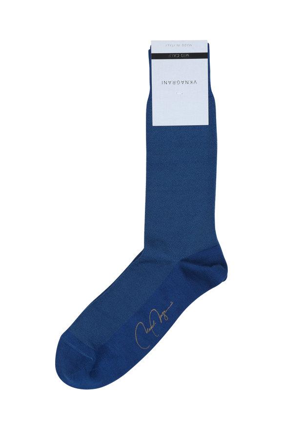 VKNagrani Blue Birdseye Socks